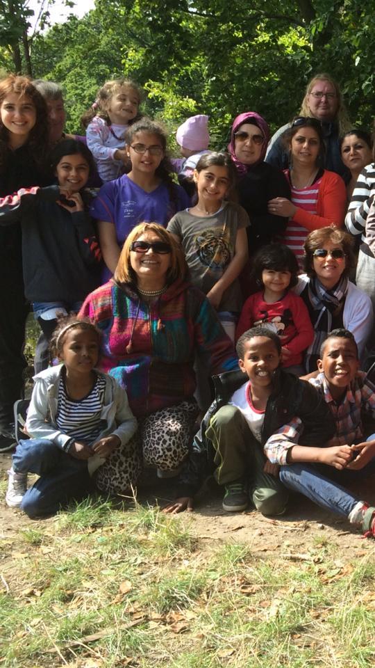 Lejrtur 2014 - Regnbuecaféen for kvinder, hos Narges