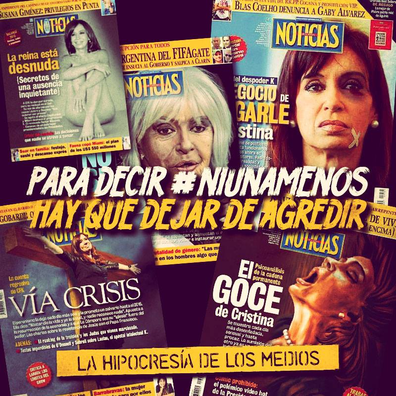 RevistaNoticiasTapasMisoginasCristinaKirchner