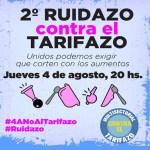 Multisectoriales convocan a un 2do Ruidazo contra el Tarifazo este 4 de agosto