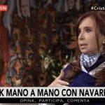 Video completo de la entrevista a Cristina por Roberto Navarro