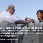 """Jorge Taiana: """"Queremos construir una Argentina justa, libre y soberana""""."""