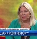 """Carrió insiste en burlarse de la desaparición de Santiago Maldonado: """"¿Van a pedir perdón cuando el tiempo me dé la razón?"""""""