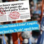 Cristina respondió a la tapa falsa de La Nación sobre Fútbol para Todos