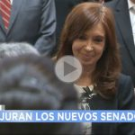 (VIDEO) Cristina Kirchner juró como Senadora Nacional en medio de ovaciones