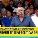 (VIDEO) Moyano a Macri: «Está hipotecando el país. Recuerde que toda victoria es relativa, toda derrota es transitoria»