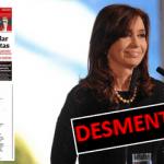 CFK expuso la tapa mentirosa de Clarín que fue desmentida por el Departamento de Estado de EEUU