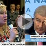 (VIDEO) Familiar de un tripulante del ARA San Juan le pidió la renuncia a Aguad