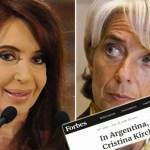 La nueva profecía de Forbes: «Si el acuerdo con el FMI fracasa, Cristina vuelve a la Casa Rosada»