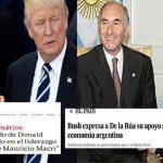 Macri recibe palabras de apoyo de Trump, como De la Rúa de Bush en 2001