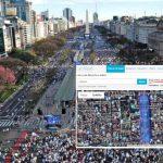 «Marcha del millón»: 200.000 personas del núcleo duro. Macri resignado a meter diputados y escapar de Comodoro Py