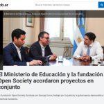 El Gobierno recibió al director para América Latina de la Open Society de George Soros
