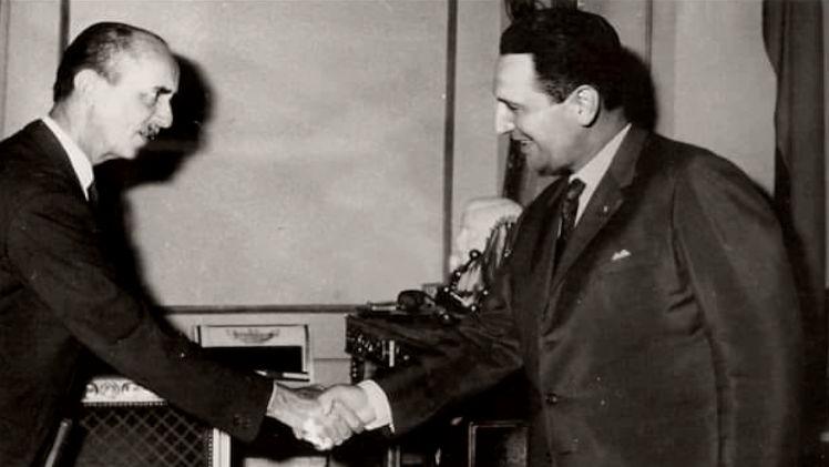 Juan Domingo Perón con Jacques de Mahieu