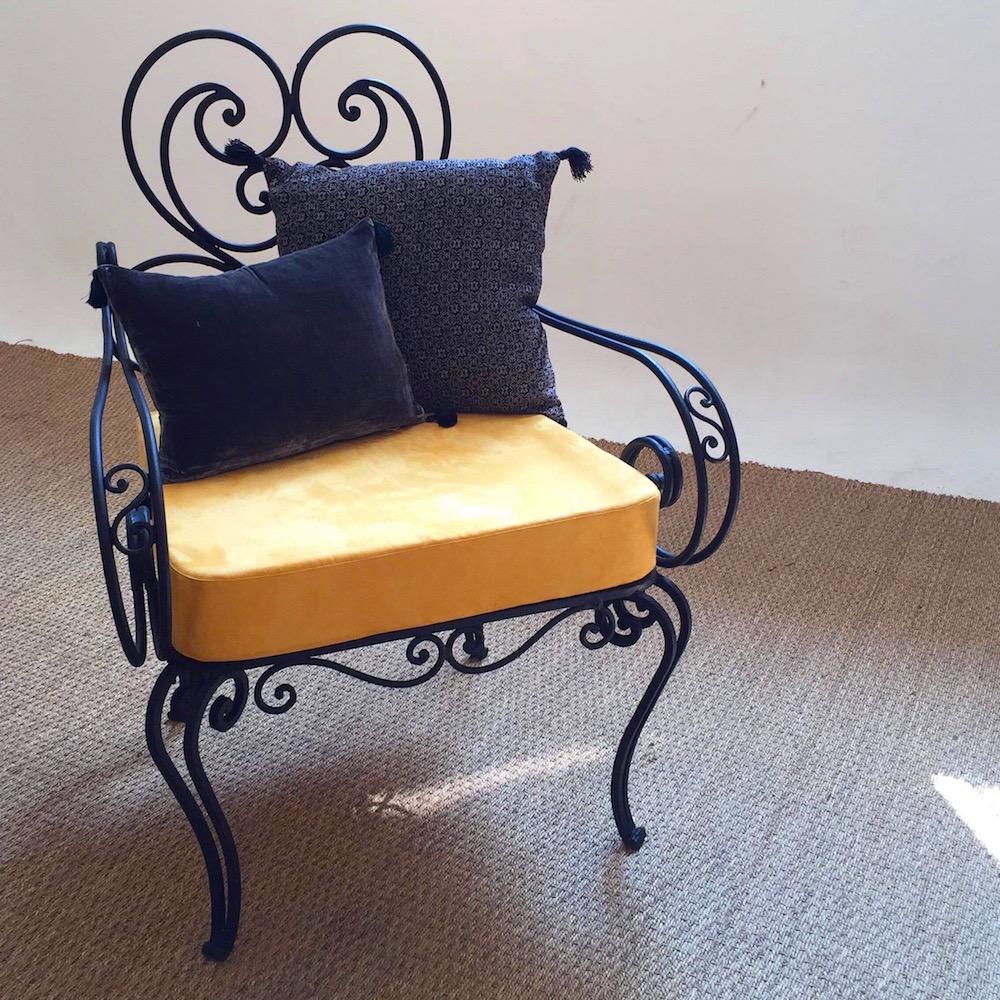 fauteuils en fer forge kontrast design