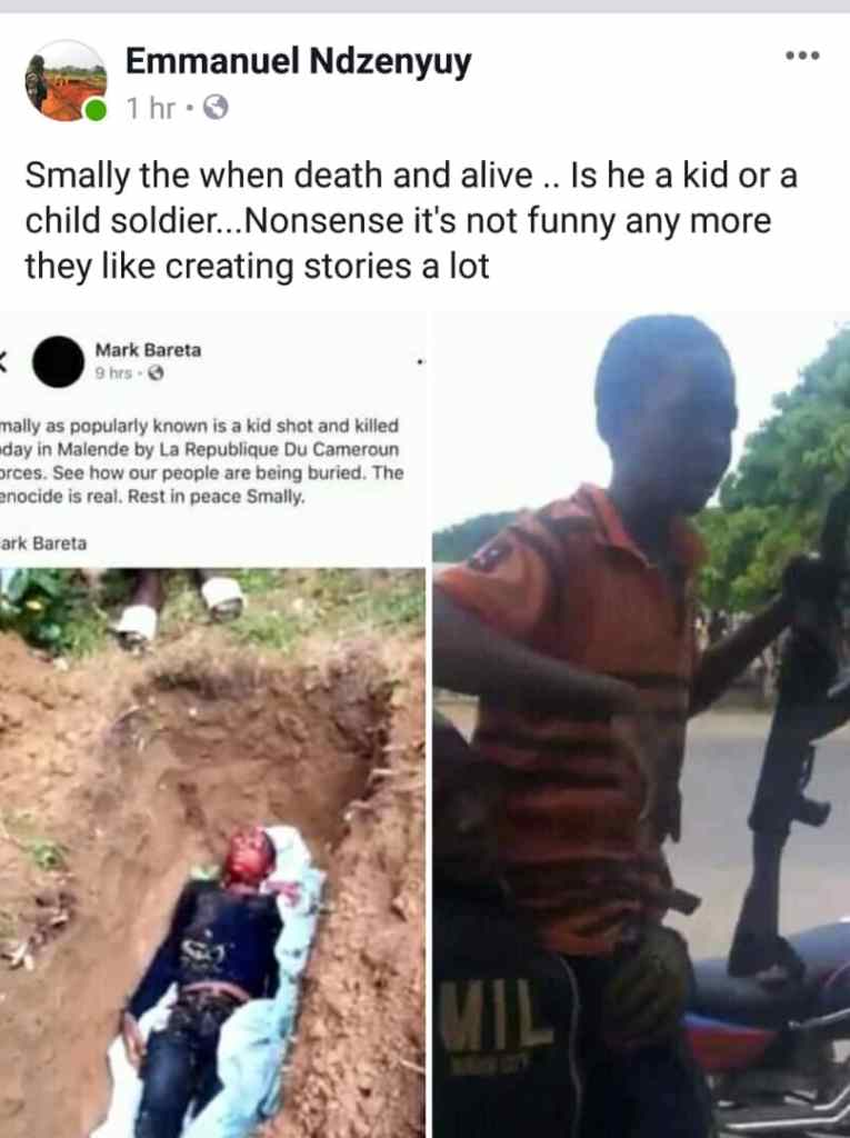 This was Smally - ADF Child soldier... Now He is DEAD!