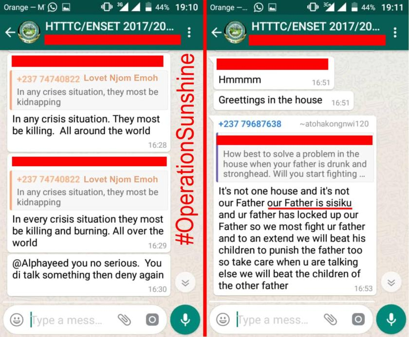 OperationSunshine (ENSET Bambili) WhatsApp Chat Part 6