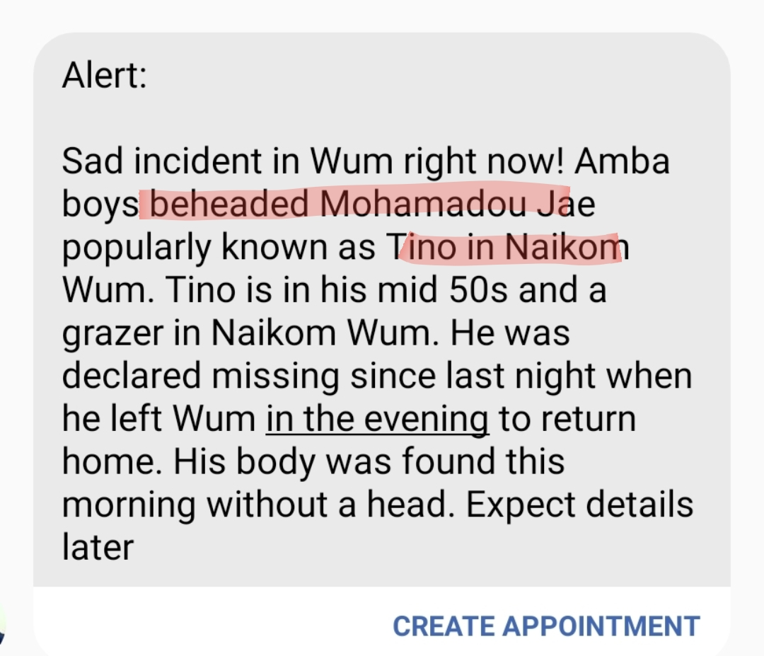 Another Amba beheading in Wum