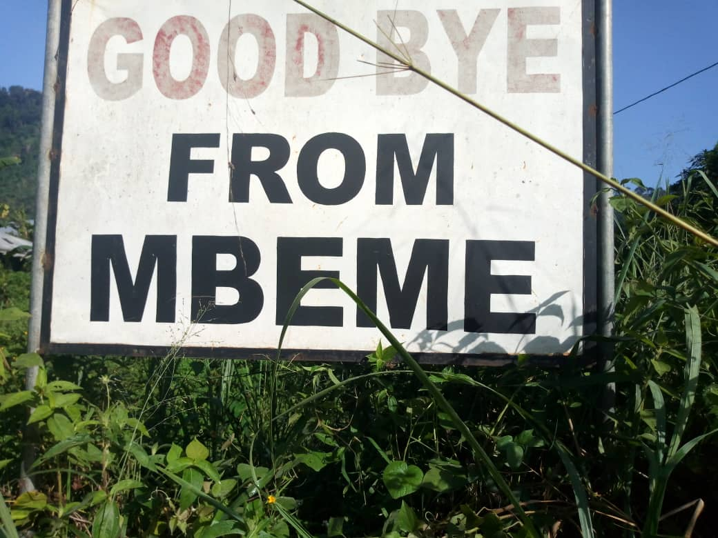 Goodbye from Mbeme.. Another bloody day for Amba boys