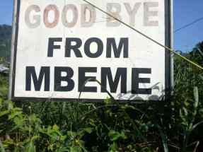 Goodbye from Mbeme