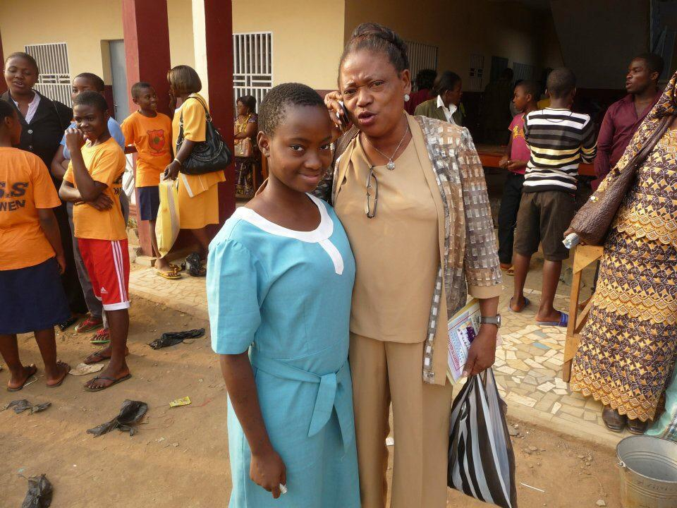 Elsie's daughter as a pupil in PSS BAMENDA