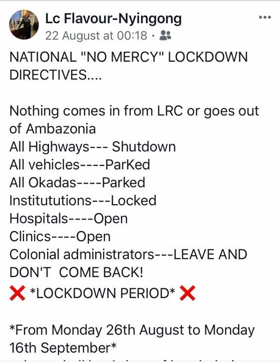 Elsie posted this on 22 Aug 2019, calling for a lockdown, to stop Children from going to School. WICKEDNESS