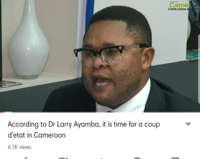 We have reasons to believe that Ayah Abine was invited to Belgium by Larry Eyamba, a big Ambazonian Terrorist belonging to the ADF Faction