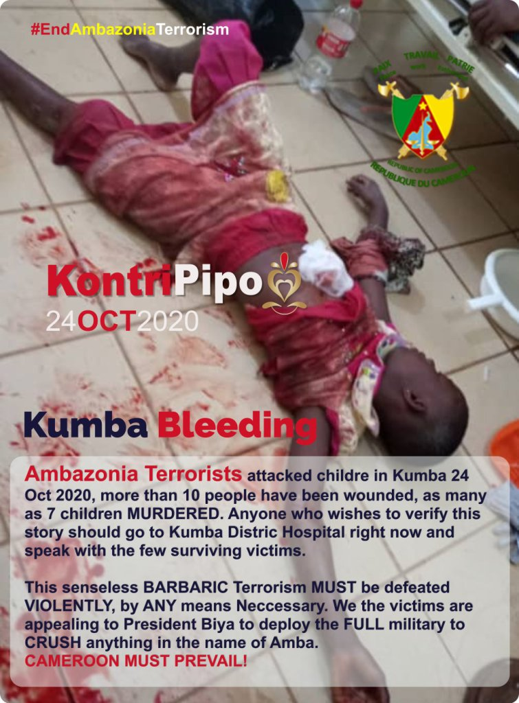 Kumba Massacre by Ambazonia Terrorists 24 Oct 2020