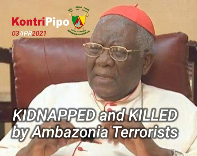 90 year old Cardinal Tumi was idnnaped by amba terrorists and accellerated his death