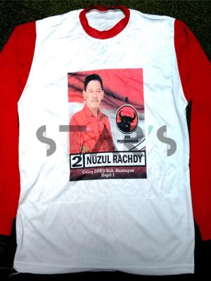 Kaos Partai PDIP | Pileg Kabupaten Kuningan