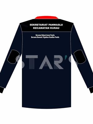 Desain Kaos Seragam Safety BAWASLU Kecamatan Kurau