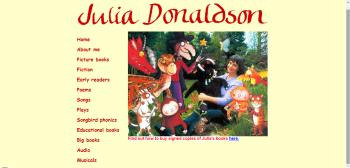 Julia Donaldson honlapja