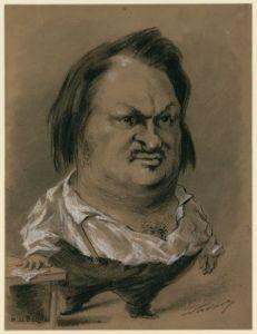 Balzac egy karikatúrán