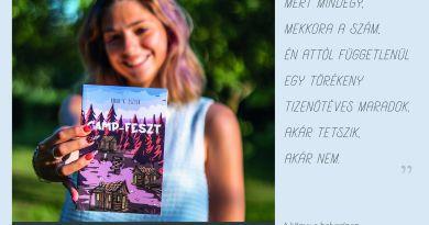 Könyvbemutató lesz Tiszaújvárosban: a Camp-Feszt szerzője ismerteti a regényt