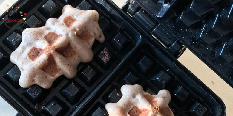 Ontbijt wafels uit het wafelijzer