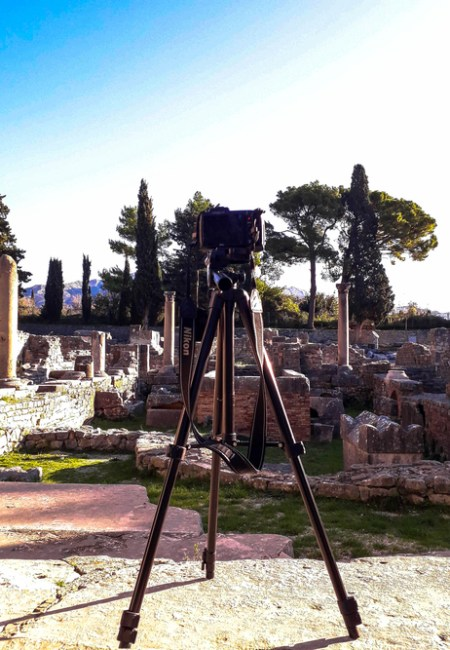 tripod-and-Nikon-camera-Salona-Croatia