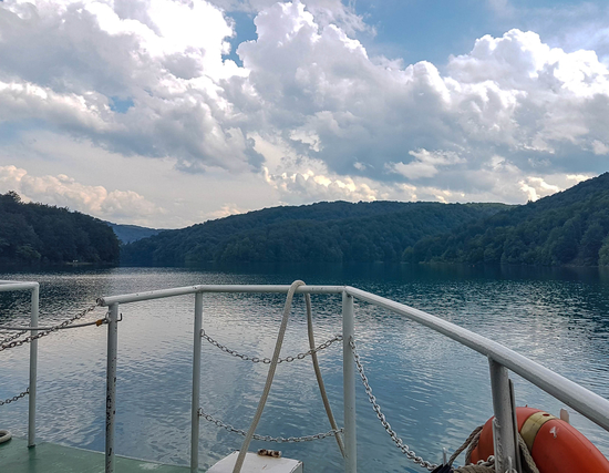 Electric boat ride in Kozjak Lake in Plitvice