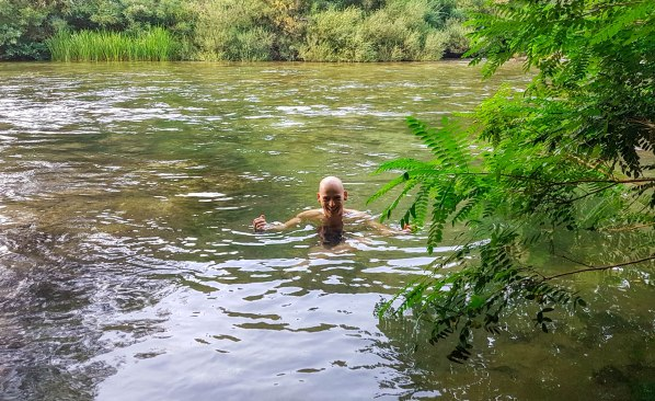 Swimming in Cetina river