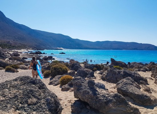 Kedrodasos beach in Crete island, Greece