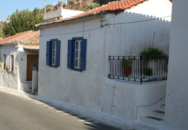 Traditional Greek stone house in Crete