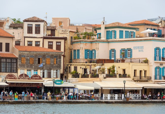 Chania city in Crete Greece