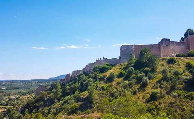 The view on greenery and Miravet castle