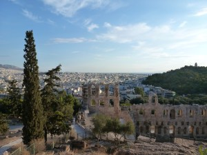 Athens: view of the city from the Acropolis