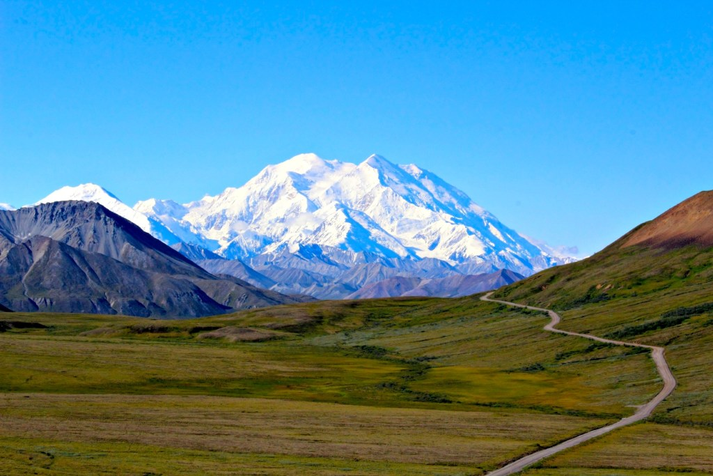 Denali National Park: view of Mount Denali's peak