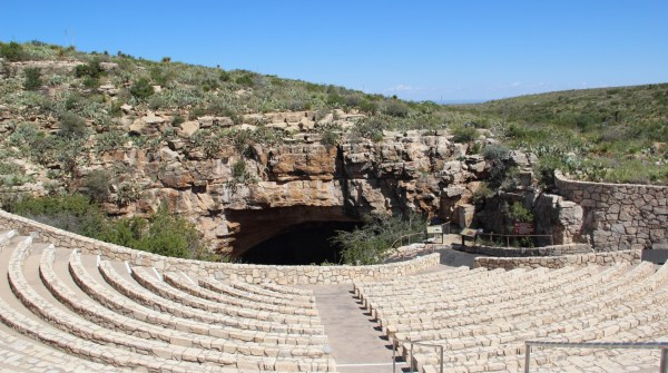 Carlsbad Caverns: amphitheatre in front of the Natural Entrance and