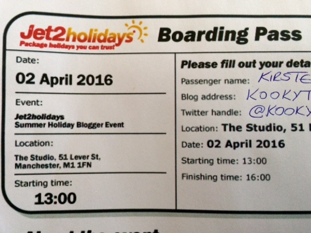 Boarding pass for #Jet2Sunchester
