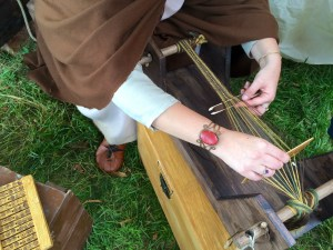 Demonstrating weaving