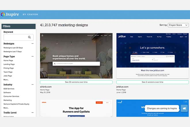 Inspire by Crayon - Inspiration Web Design