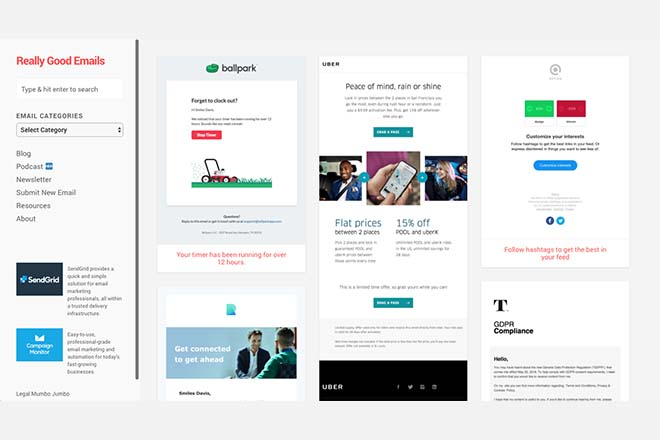 Really Good Emails - Inspiration Web Design