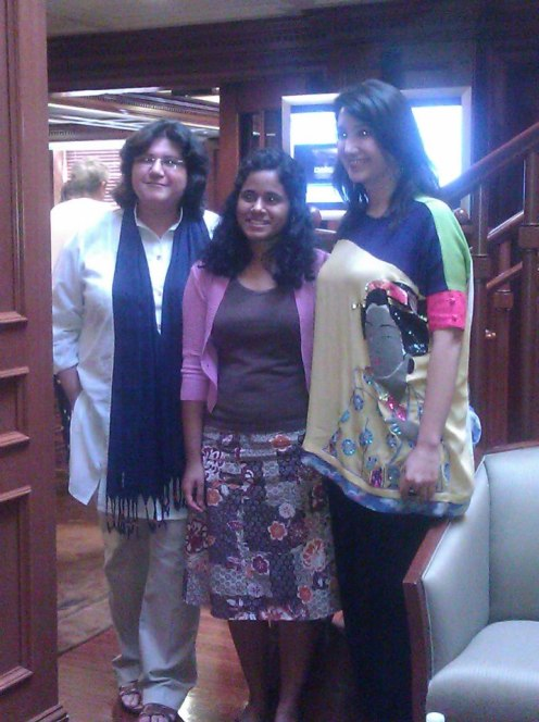 Zeb and Haniya with Georgetown student