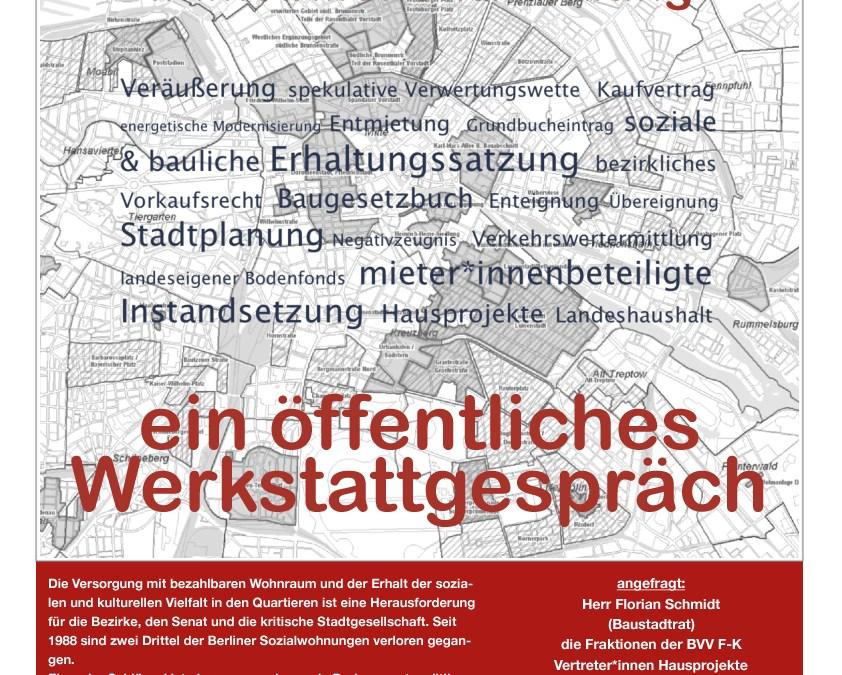 Bürger*innendiskussion Vorkaufsrecht