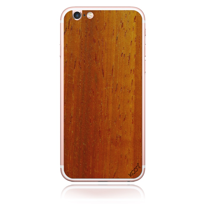 Red natural – Padauk Crimson WOOD phone skin